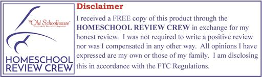 Homeschool Crew Review Disclaimer